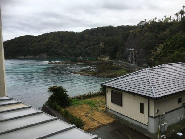 下田海浜ホテル部屋からの眺め