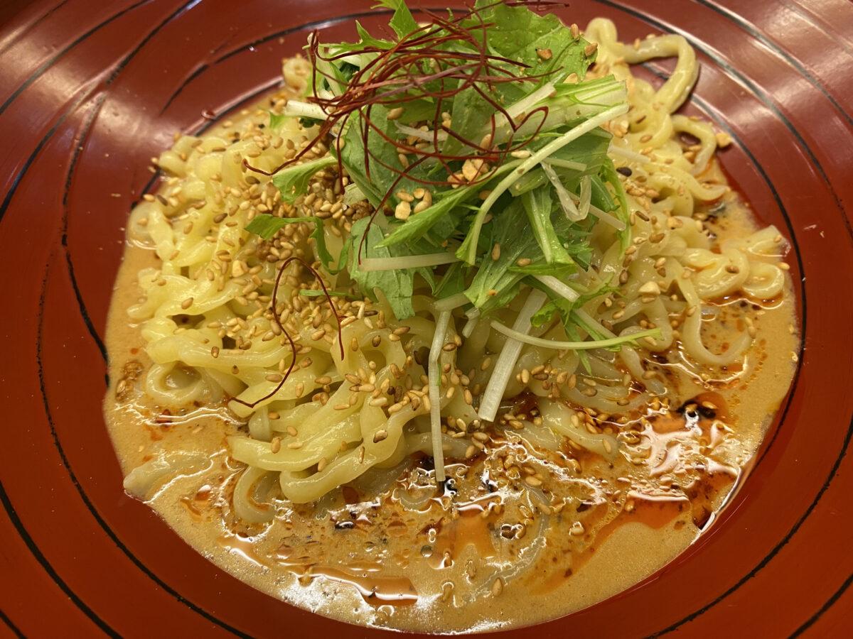 汁なし担担麺金蠍(キンカツ)@東京神谷町【金胡麻パワー】